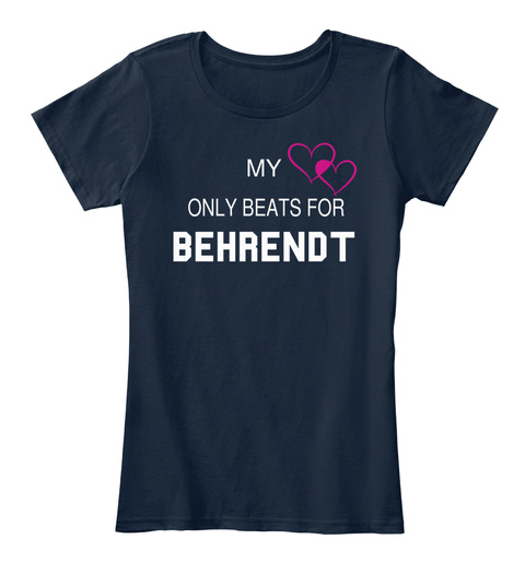 My Only Beats For Behrendt New Navy T-Shirt Front