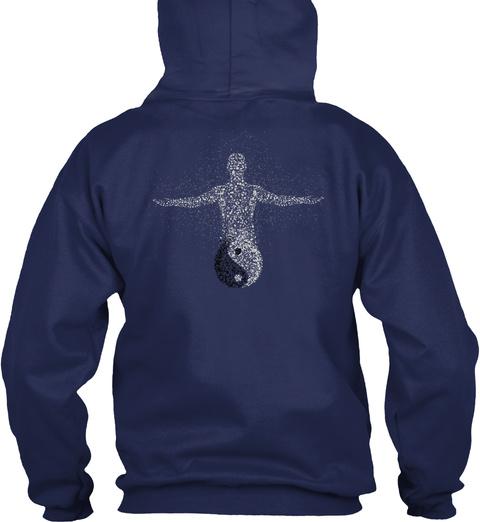 Namaste Zen Meditation Buddha Navy T-Shirt Back