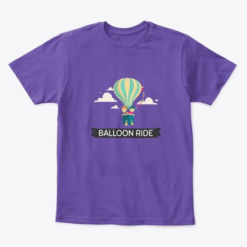 Balloon Ride Kids T Shirt Purple  T-Shirt Front