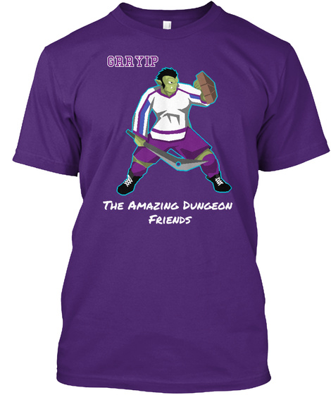 Grryip The Amazing Dungeon Friends Purple Kaos Front