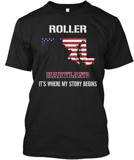Roller Md   Story Begins Black T-Shirt Front