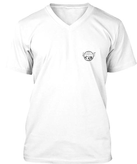 T Shirt V Logo Poitrine  White T-Shirt Front