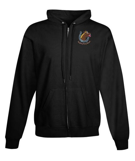 Laughing Pony Rescue Hoodies Black Sweatshirt Front