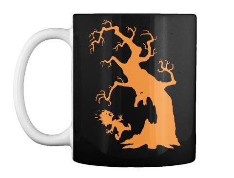 Creepy Tree Halloween Mug Black T-Shirt Front