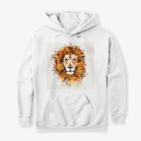 Invincible Lion Pullover White T-Shirt Front
