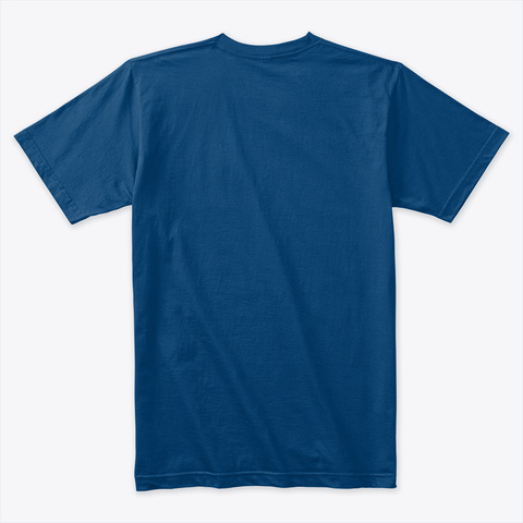 Flock Of Neon  Cool Blue T-Shirt Back