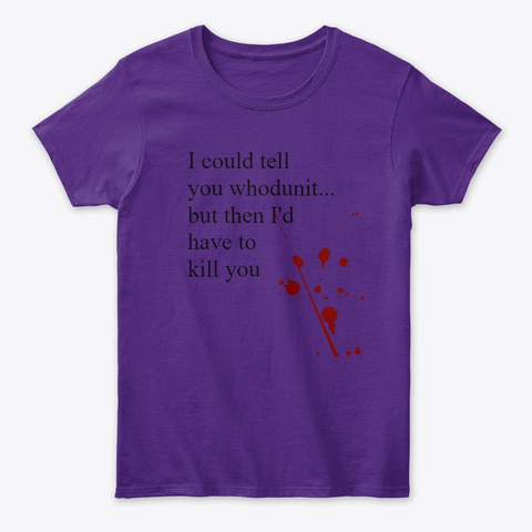 Whodunit Tops Purple T-Shirt Front