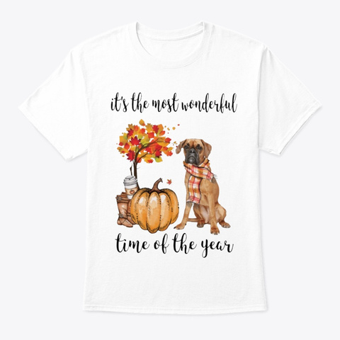 The Most Wonderful Time   Boxer White T-Shirt Front