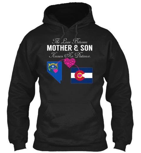 Mother Son   Nevada Colorado Black T-Shirt Front
