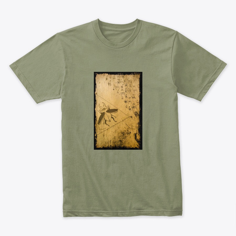 """The """"Initial"""" Sign Light Olive T-Shirt Front"""