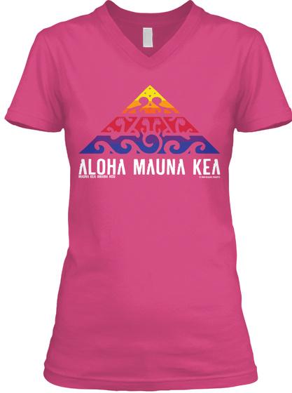 Aloha Mauna Kea Wow Pink Camiseta Front