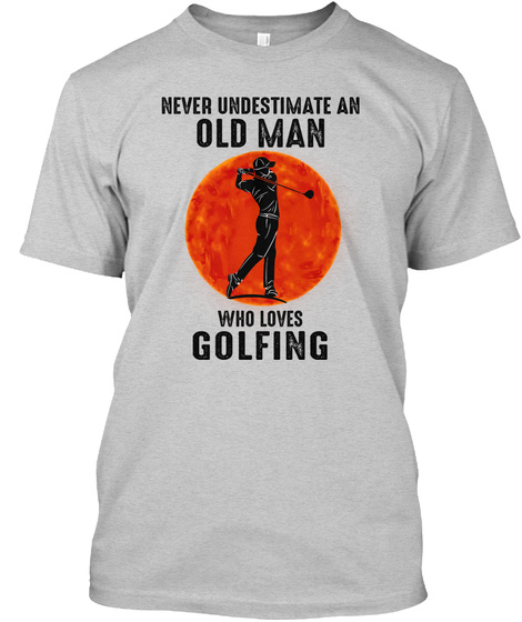 Awesome Golfing Light Steel T-Shirt Front