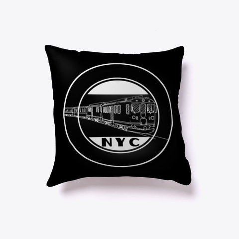 The Classic Nyc Line Black T-Shirt Front