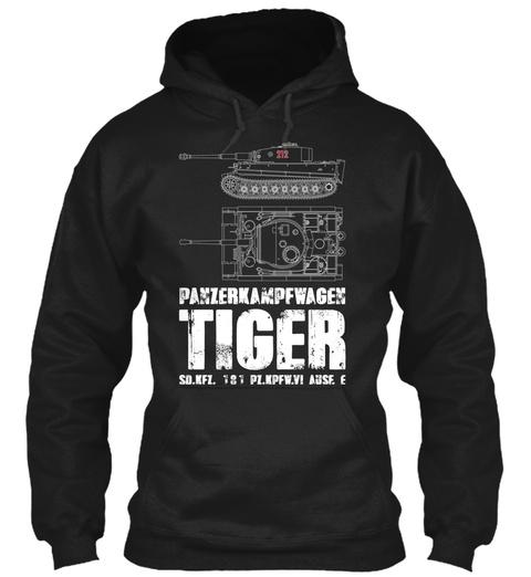 Tiger Tank Black T-Shirt Front