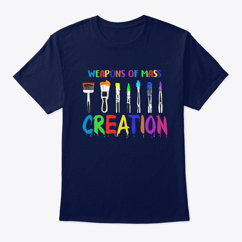 Creation Art   Weapons Of Mass Creation Navy T-Shirt Front