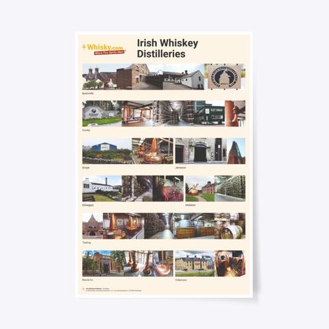 Poster Irish Distilleries 24x36 Standard T-Shirt Front