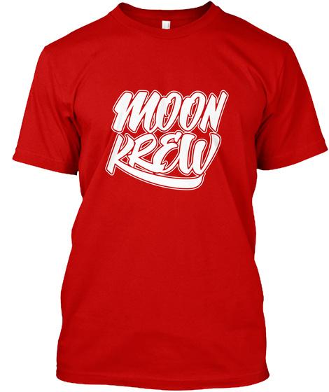 Rdmn Moon Krew2 Classic Red T-Shirt Front
