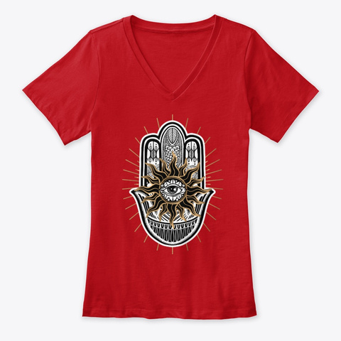 Palm   Yoga And Mindfulness Red T-Shirt Front