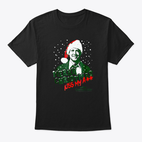 Christmas Vacation Merry Christmas T Shi Black T-Shirt Front