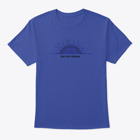 Super Cool Shitpile Shirt Deep Royal T-Shirt Front