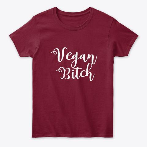 Vegan Bitch Cardinal Red T-Shirt Front