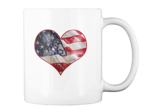 I Love The Usa Coffee Mug White T-Shirt Back