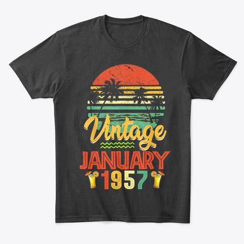 Vintage January 1957 Birthday Gift Unisex Tshirt