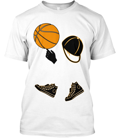 Basketball Design...By Jb Tops White T-Shirt Front
