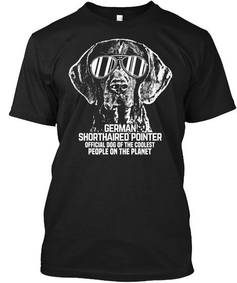 German Shorthair Official Dog Shirt Black T-Shirt Front