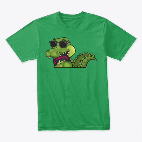 Gabe The Gator On Premium Tee Kelly Green T-Shirt Front