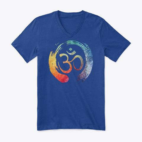 Om Enso Namaste Circle Art Graphic True Royal áo T-Shirt Front