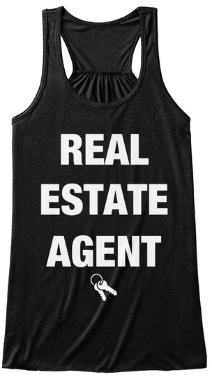 Real Estate Agent  Black T-Shirt Front