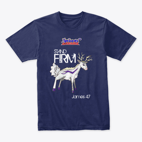 Stagnetic   Stand Firm Midnight Navy T-Shirt Front