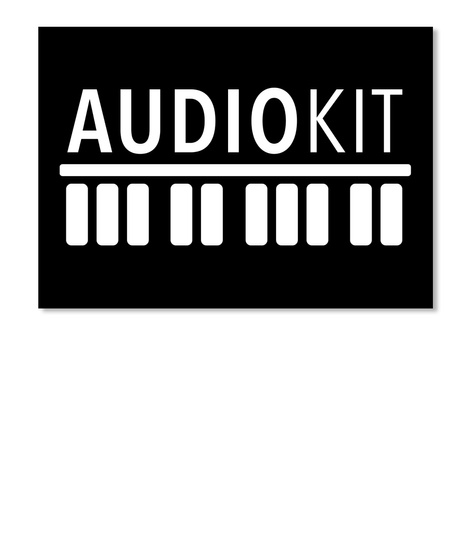 Audiokit Black T-Shirt Front