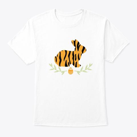 Easter Sunday Bunny Fur Girls Catholic O White T-Shirt Front
