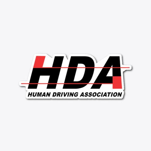 Hda Logo Sticker Standard T-Shirt Front