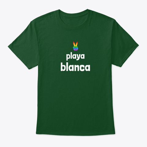 Pride Playa Blanca  Deep Forest T-Shirt Front