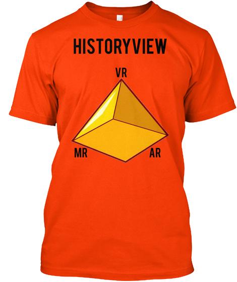 Historyview Vr Mr Ar Orange T-Shirt Front