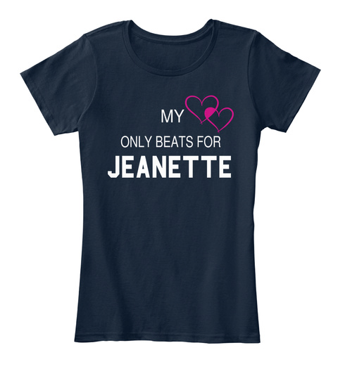 My Only Beats For Jeanette New Navy T-Shirt Front