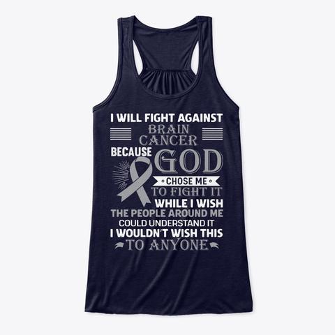 Brain Cancer Awareness Husband Midnight T-Shirt Front