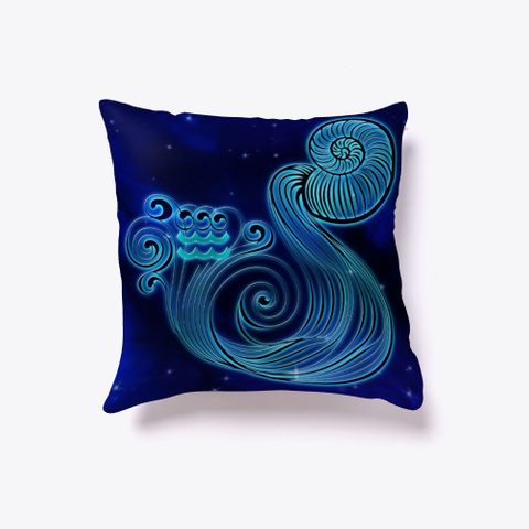 Aquarius Zodiac Pillow Standard T-Shirt Back