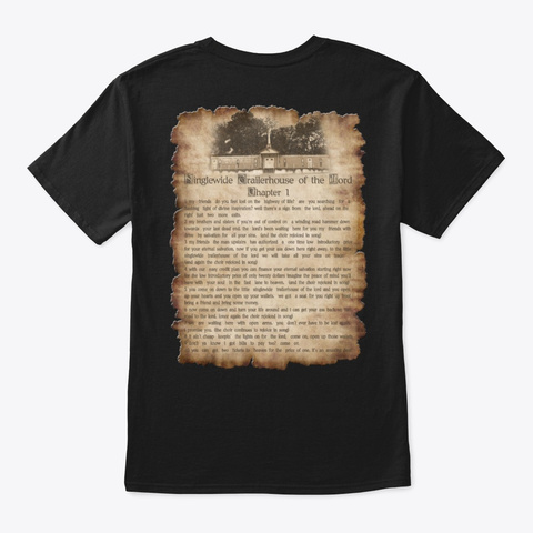 Singlewide Trailerhouse Of The Lord Black T-Shirt Back