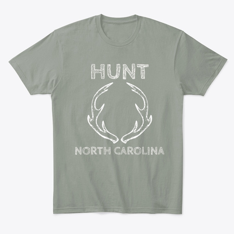 Hunt North Carolina Deer Hunting Grey T-Shirt Front