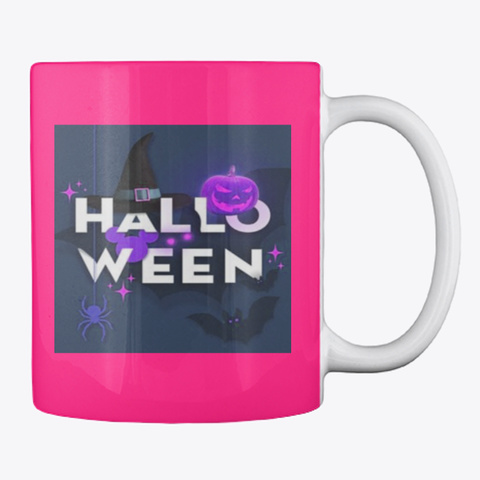 Halloween Mug, A Little Witch In All Us Hot Pink Mug Back