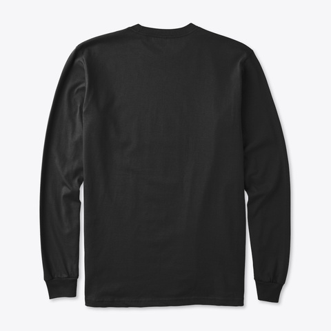Money Out Of Politics Long Sleeve Black T-Shirt Back