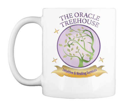 The Oracle Treehouse Brand Mug White T-Shirt Front