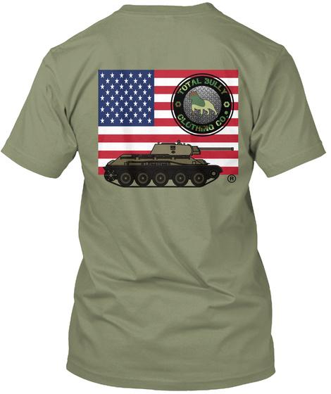 Total Bully   Us Veterans Appreciation  Light Olive T-Shirt Back