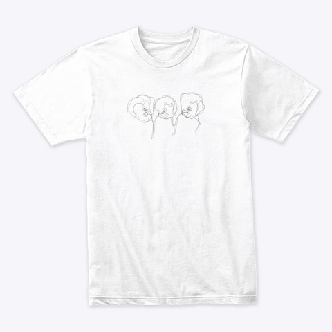 The Three Lagotto Musketeers White T-Shirt Front