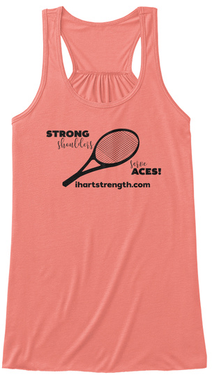 Strong Shoulders Serve Aces   Black Coral Women's Tank Top Front