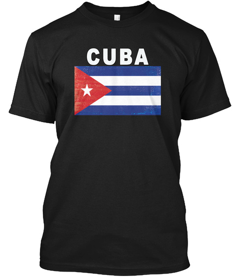 Cuba Black T-Shirt Front